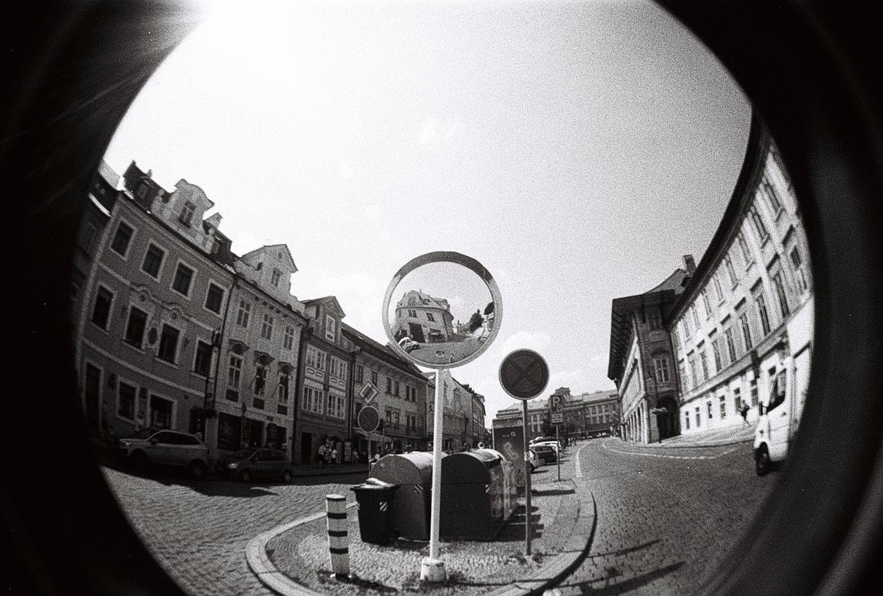 Stará Praha rybím okem