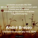 André Breton - V krásném soumraku léta 1934
